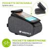 sacoche vélo avec pochette smartphone détachable