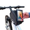 sacoche vélo avec pochette smartphone qui se scratche
