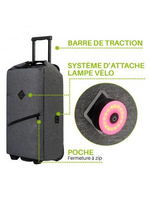 attache lampe valise vélo