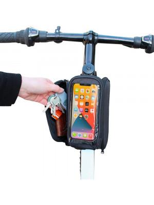 pochette vélo 2 compartiments + 1 pochette smartphone