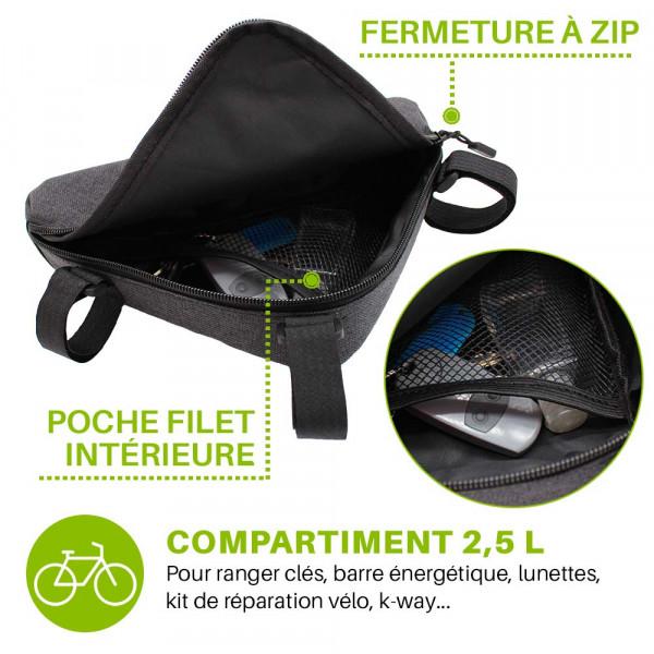 pochette vélo avec poche intérieure
