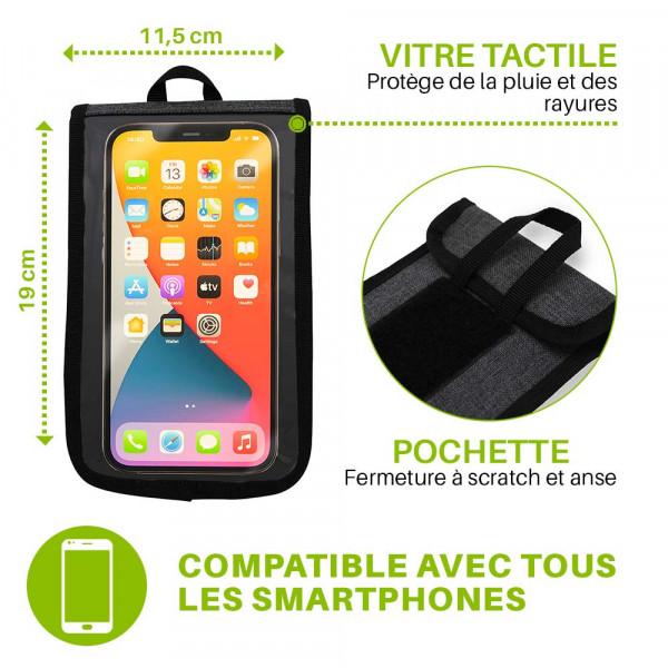 Pochette de sacoche vélo pour téléphone détachable