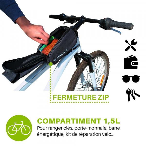 sacoche vélo avec compartiment 1,5L
