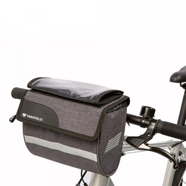 sacoche guidon vélo avec pochette smartphone
